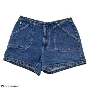 "Reitmans Vintage Blue High Rise Denim Shorts 3.5"""